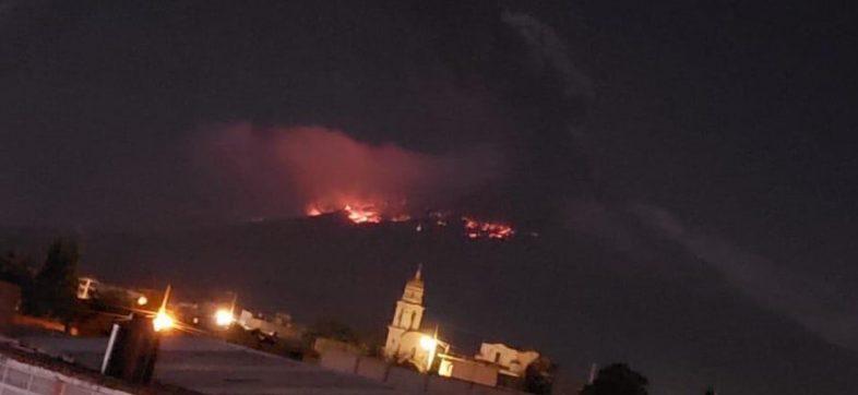 Explosión del Popocatépetl