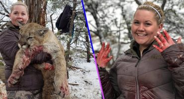 ¡Qué horror! Una mujer compartió orgullosamente fotos del puma que mató