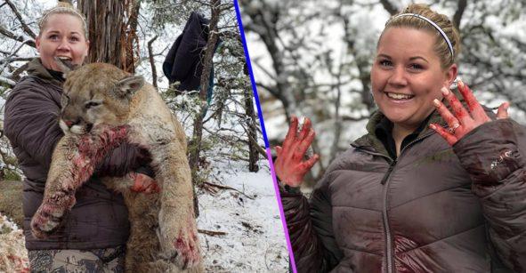 ¡Qué horror! Una mujer compartió orgullosamente fotos del puma que ella mató