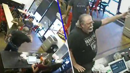 Un hombre racista enfureció porque vio el letrero de un restaurante escrito en español