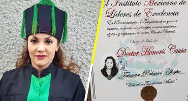 OMG: Tatiana recibió un Doctorado Honoris Causa en la UNAM 😱