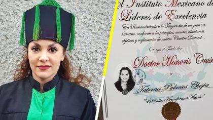 OMG: Tatiana recibió un Doctorado Honoris Causa en la UNAM