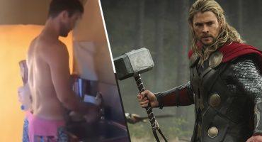 Muy salvador del universo pero a Thor también le toca lavar los trastes