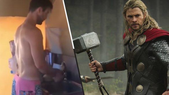 ¡Tsss el látigo! Muy salvador del universo, pero a Thor también le toca lavar los trastes