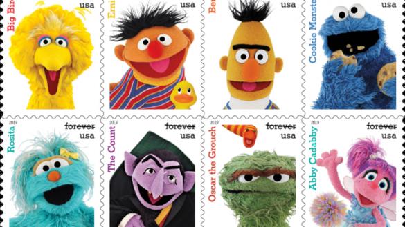 Checa los timbres postales conmemorativos por los 50 años de Plaza Sésamo