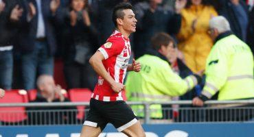 ¡Doblete diabólico! Los goles del 'Chucky' Lozano en el empate del PSV con Vitesse