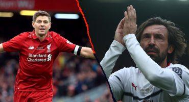 ¡Son bellísimos! Los goles de Gerrard y Pirlo en el juego de leyendas del Liverpool vs Milan