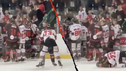 La brutal llave de MMA que dejó inconsciente a un jugador de hockey