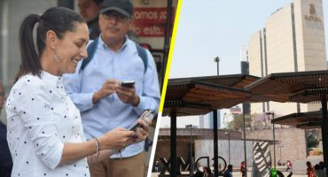 Claudia Sheinbaum inaugura nuevo punto de Wifi en la Glorieta de Insurgentes 😱