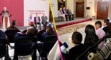 Día del Niño nivel: niños y niñas le caen a la conferencia de AMLO; a algunos los venció el sueño