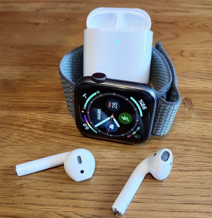 AirPods 2 con Apple Watch