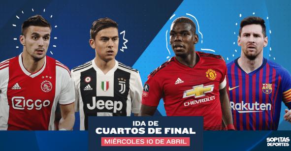 Todos los goles y partidos de los Cuartos de Final de la Champions League