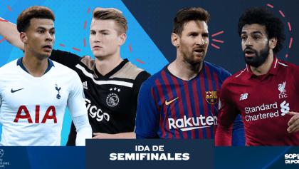 Todos los partidos y goles de la ida de las semifinales de la Champions League