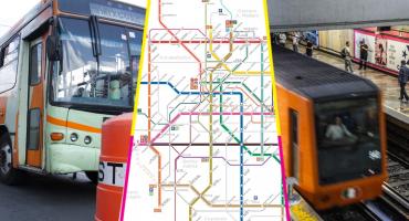 ¡Metro, Metrobús y hasta RTP! Habemus mapa único de la red de transporte CDMX