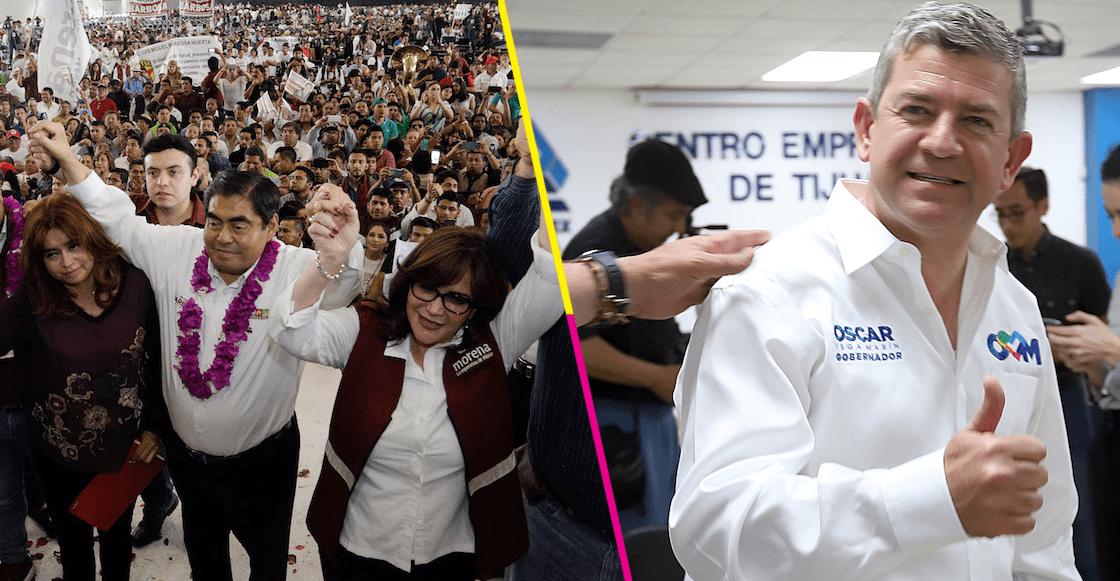 Arraaaaancan campañas para las gubernaturas de Puebla y Baja California