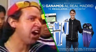 ¡Uy, así qué chiste! Leganés regalará playeras oficiales... si le gana al Real Madrid