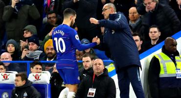 Maurizio Sarri se rinde en el caso Hazard: