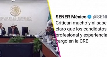 'Critican mucho y ni saben', así el tuitazo de Sener en defensa de los candidatos a la CRE