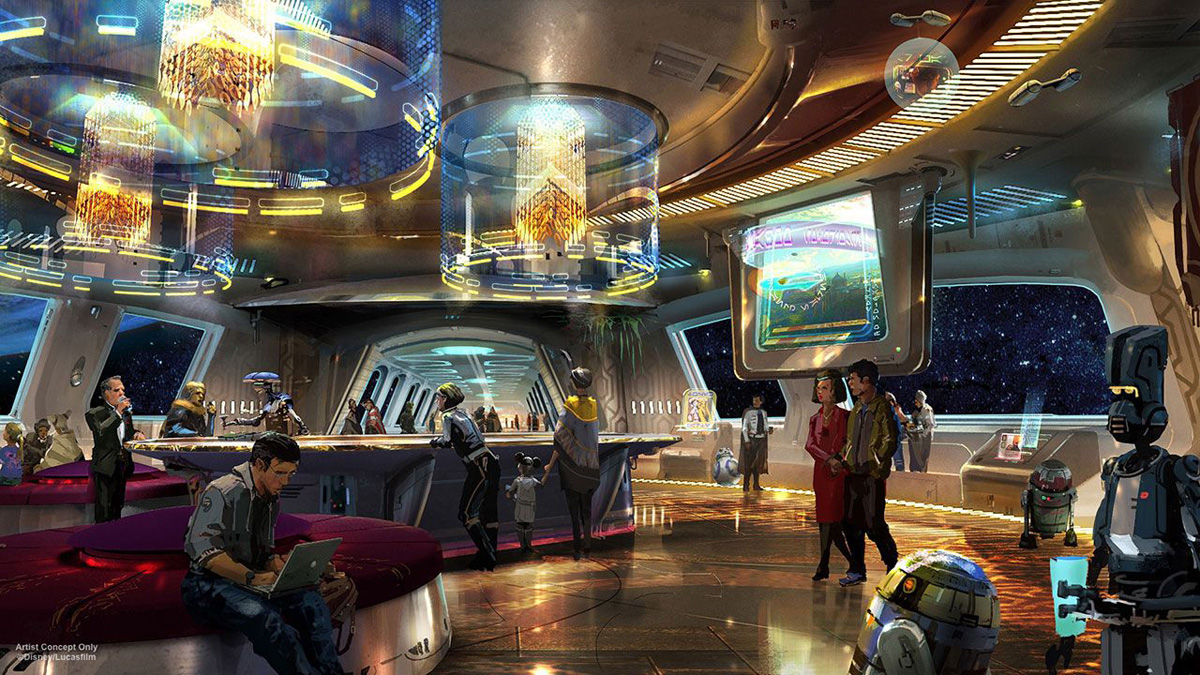 Foto conceptual del hotel de Star Wars en Disney