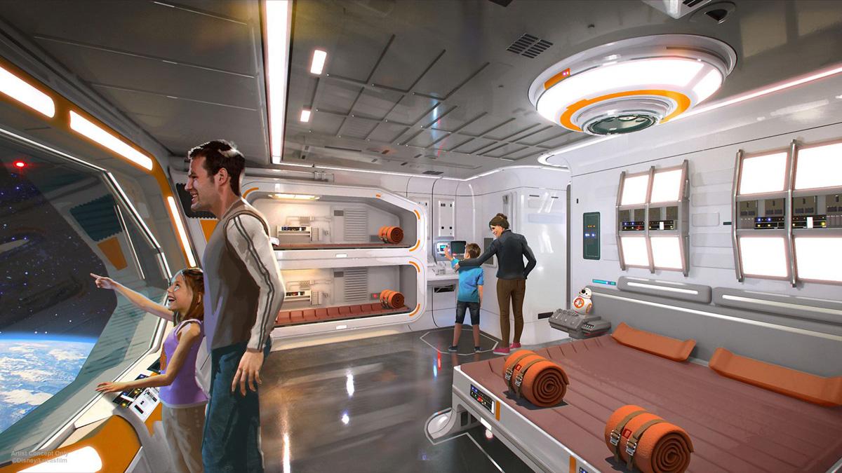 Arte conceptual del hotel temático de Star Wars que se construye en Disneyland / Foto: Disney