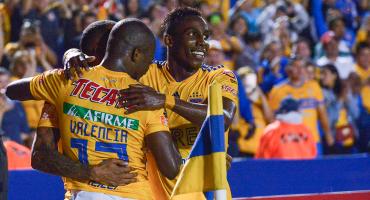 ¿Sentenciado? Los goles de Tigres sobre Santos en la ida de semifinales de la Concachampions