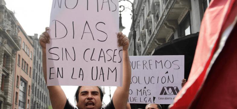 'Que la huelga termine', este fue el voto de estudiantes y académicos de la UAM