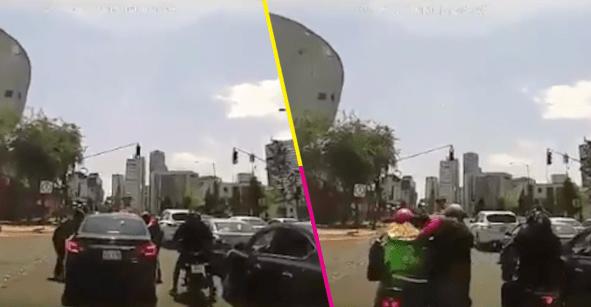 Pasó en Santa Fe: ladrones usan Uber Eats para asaltar a automovilista