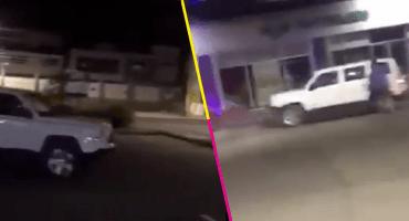 ¿#LadyChoques, eres tú? Conductor estrella su camioneta contra un establecimiento en Jalisco