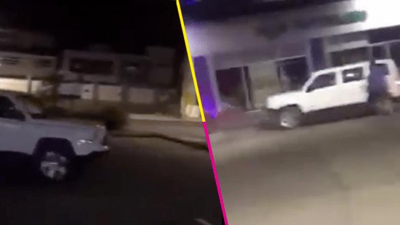 Conductor estrella su camioneta contra un establecimiento en Jalisco