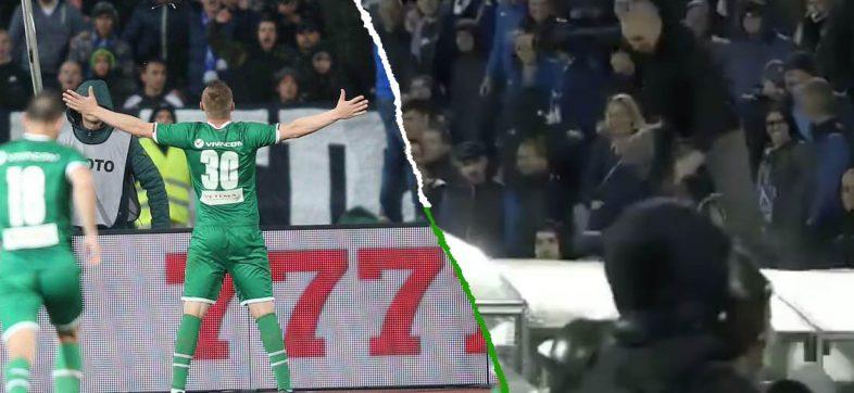 Aficionados intentaron golpear a jugador que les 'cantó' un gol; destrozaron parte del estadio