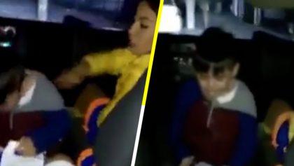 Captan a animadora infantil golpeando e insultando a un niño, en Monterrey