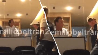 Captan a Ares de Parga en plena regañiza a Leandro Augusto tras la derrota de Pumas