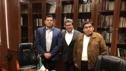 Alejandro Armenta, Ricardo Monreal y Miguel BArbosa