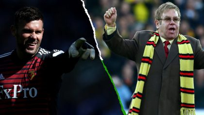 Portero del Watford pide a Sir Elton John cancelar presentación para estar en la Final de FA Cup