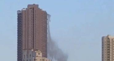 Cuando un terremoto hizo que un edificio se convirtiera en cascada