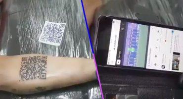 Joven se tatuó código QR de un video de su equipo de fútbol favorito y YouTube lo borró