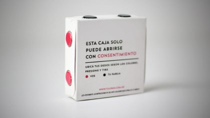 Este condón se abre únicamente si hay consentimiento de tu pareja
