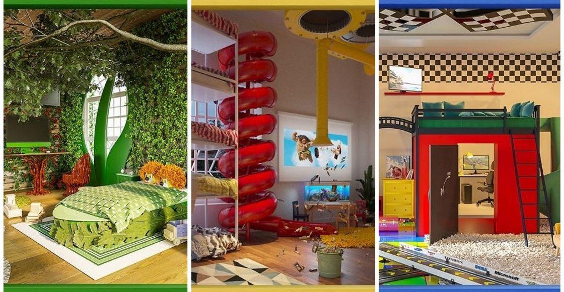 Dibujos y diseños de cuartos hechos por niños
