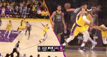 ¡La última humillación a los Lakers! La asistencia de fantasía de Curry