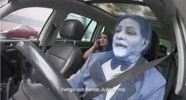 100% real no fake: Como cuando te subes a tu Uber y el chofer es Benito Juárez