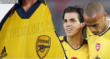 Como en los viejos tiempos: Se filtró el uniforme 'retro' que usaría el Arsenal en la Premier League