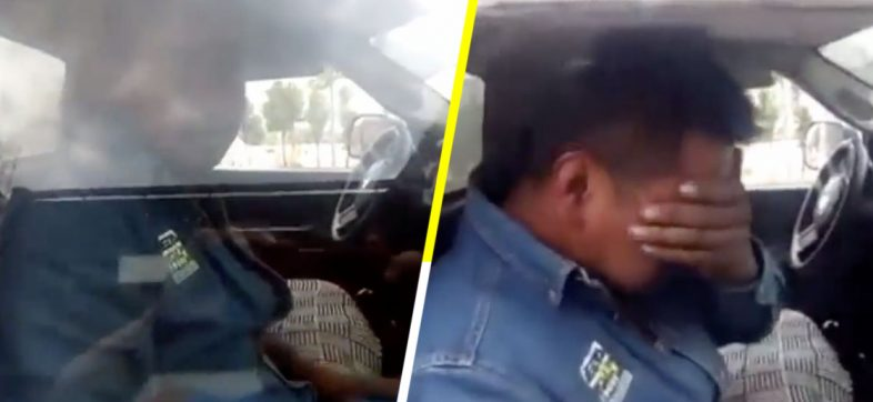 Un vendedor de gas es descubierto robándose unos calzones y casi se pone a llorar