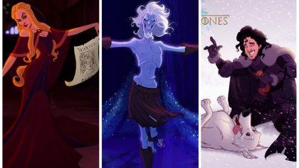 Así se verían algunos personajes de 'Game of Thrones' si vivieran en el mundo de Disney