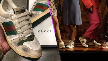 Tenis sucios: La nueva moda de Gucci que cuesta 15 mil pesos