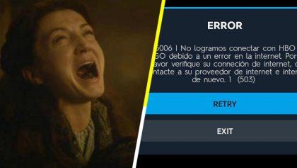 Ya valió: Reportan que los servidores de HBO Go se han caído y todos están entrando en pánico