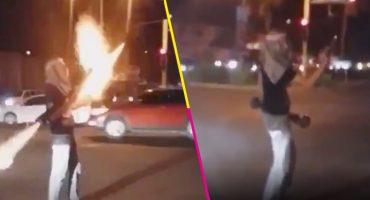 México mágico: Un hombre disparó una ¿bazuca? en un crucero en Culiacán