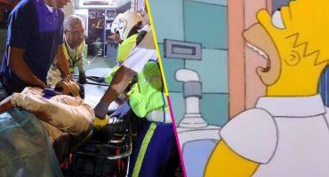 Y en la nota idiota del día... otro policía de la CDMX sale herido en visita al baño