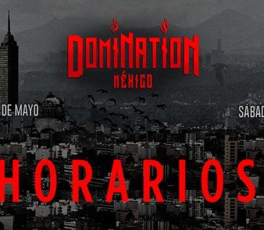 ¡Ya están los horarios definitivos para el Festival Domination!