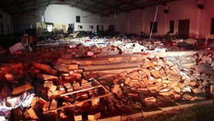 Colapsa una iglesia durante celebración de Semana Santa; hay 13 muertos
