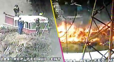 Marchas forzadas: bomberos combaten dos incendios en pastizales de la CDMX